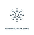 referral marketing icon thin line style symbol vector image