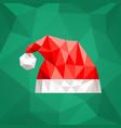 santa claus hat in polygonal style vector image vector image