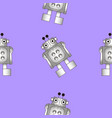 seamless texture of the robot vector image