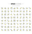 Set line icons space