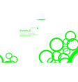 Simple circles background with color green and