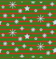 snowflake striped green seamless pattern vector image