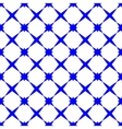 Star blue geometric seamless pattern vector image vector image