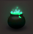 stock witches cauldron vector image vector image