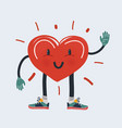 strong heart character in vector image