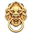 The head of a lion - door handle vector image vector image