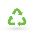 three green arrows with eco recycle icon eco sign vector image