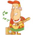 tourist hawaii ukulele vector image