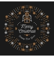 Trendy Christmas Card Happy New Year Minimal vector image vector image