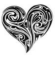 tribal heart shape tattoo design vector image vector image