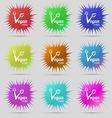 Vegan food graphic design icon sign A set of nine vector image vector image