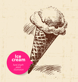 Vintage sweet ice cream background vector image vector image