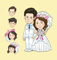 Wedding Cartoon vector image vector image