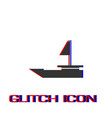 yacht boats icon flat vector image vector image