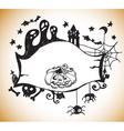 halloween hand drawn background vector image