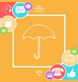umbrella line icon vector image