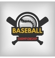 Baseball sports logo vector image