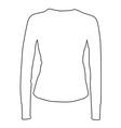 White sport shirt vector image
