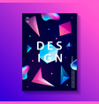 abstract trendy cosmic poster with crystal gems vector image vector image