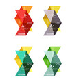arrow option infographic templates set vector image vector image