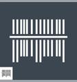 bar code icon vector image
