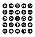 black arrows set on white background arrow vector image vector image