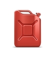 Blank Red Jerrycan Canister Gallon Oil Cleanser vector image