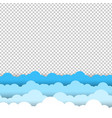 blue and white sky clouds border transparent vector image vector image