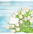 Bouquet of beautiful tulips EPS 10 vector image vector image