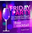 Bright Friday party free cocktail flyer template vector image vector image