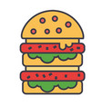 burger hamburger fast food bistro sandwich vector image
