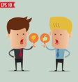 Business man show sign idea - - EPS10 vector image vector image
