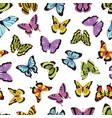 butterfly seamless pattern floral garden print vector image vector image