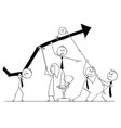 cartoon of business people teamwork concept vector image