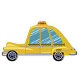 cartoon retro car taxi a vector image