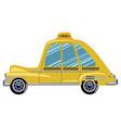 cartoon retro car taxi vector image