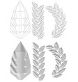 carved leaf vector image