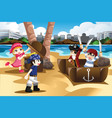 children playing as pirates vector image vector image