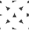 church pattern seamless black vector image vector image
