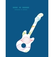colorful horizontal ogee guitar music vector image vector image