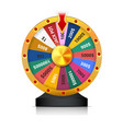 concept of lottery win roulette fortune wheel vector image