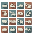 Construction Machines Flat Icons vector image vector image