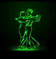 couple dancing foxtrot vector image vector image