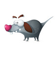 crazy dog - funny cartoon characters vector image