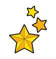 decorative stars isolated icon vector image
