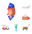 design of airport and airplane sign vector image vector image