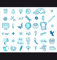 education doodle icons vector image vector image
