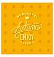 Enjoy autumn vector image vector image