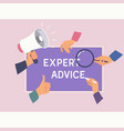 expert advice consulting service business help vector image