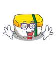 geek tamago sushi a japanese cartoon food vector image